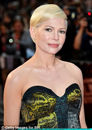 Pretty as a pixie: The leading lady slicked her signature platinum blonde bomb to one side, letting no strand escape the sleek design to achieve the very put-together and sophisticated look