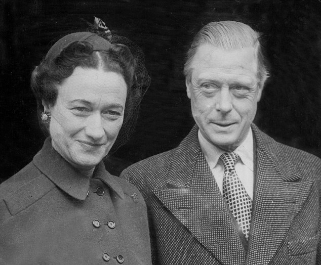 The Duke of Windsor - formerly King Edward VIII - meeting the Duchess, Wallis Simpson