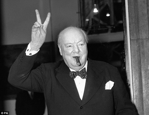 The King had confided the scheme to one of his few remaining friends, Winston Churchill (pictured), who immediately recognised its danger