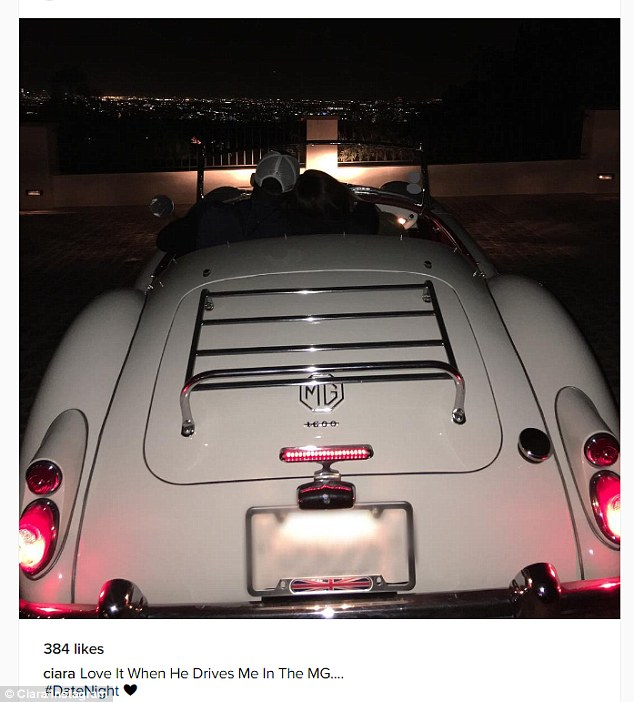 Who took this? 'Love when he drives me in the MG...' she captioned this cute Insta shot