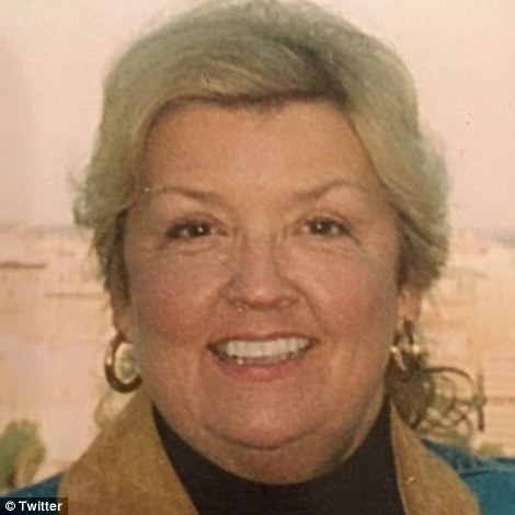 Trump retweeted posts from Juanita Broaddrick (pictured) who has claimed Bill Clinton raped her