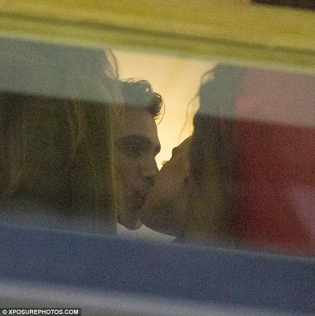 Soptted! Rumoured lovers Perrie Edwards, 23, and Luke Pasqualino, 26, were pictured enjoying a steamy smooch at Leigh-Ann Pinnock's birthday party on Saturday