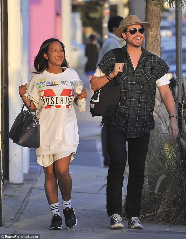 Starting off the weekend: On Friday, Christina Milian was spotted having a stroll in Los Angeles with a gorgeous male friend