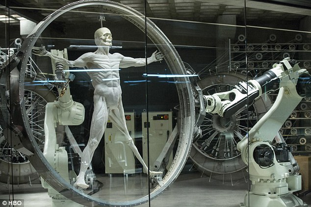 Lifelike? A machine gets to work creating one of the Westworld park's robot hosts