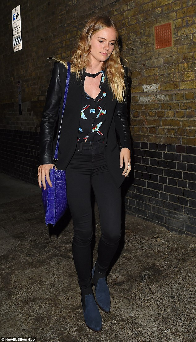 Party girl: Cressida Bonas was see putting on a stylish display when she stepped out in London on Saturday evening