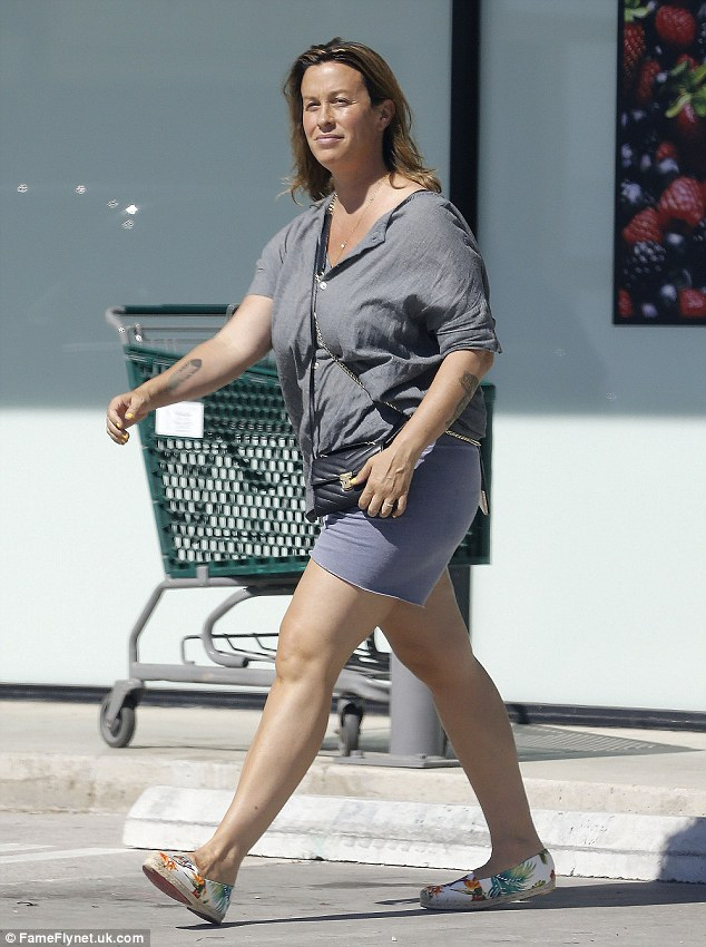 Stepping out: The Grammy winning singer was also spotted while shopping in Los Angeles on Sunday