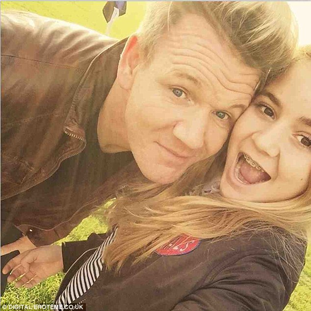 Awkward: Gordon Ramsay was upbraided by the headmaster of his daughter Tilly's private school