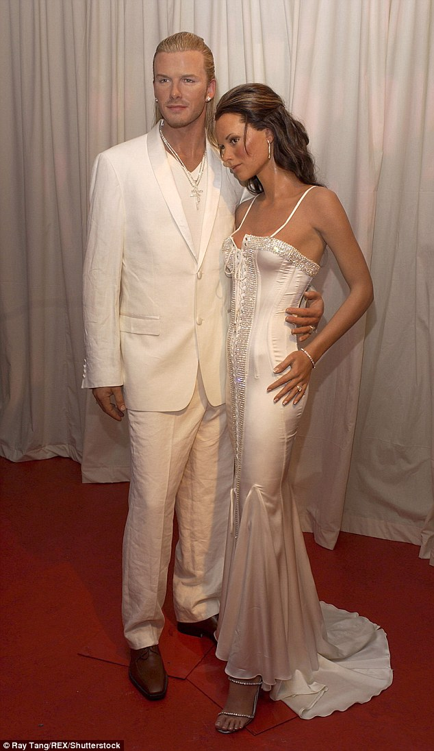 Iconic: The current models, which are met by thousands of tourists each year, replaced older versions of the famous power couple formed back in 2004