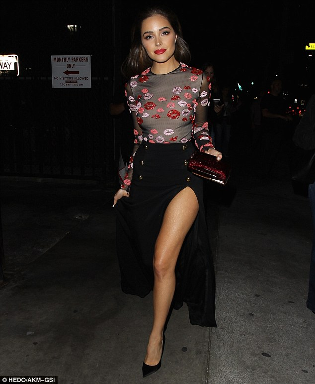 Her big night! On Friday, Olivia Culpo looked utterly glamourous as she stepped out at Le Petit Paris in LA to celebrate her cover of LAPALME magazine