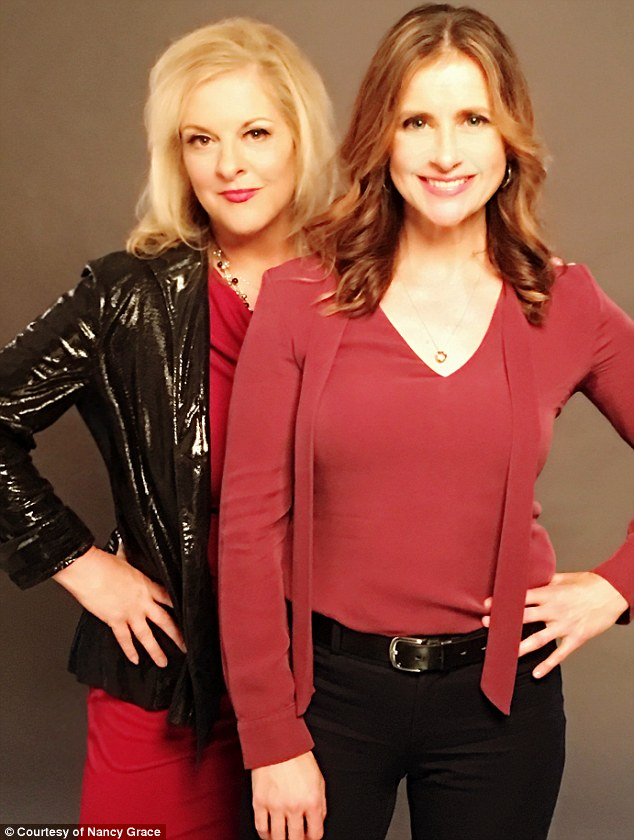 Grace and her movie's star, Kellie Martin. Grace will have a cameo in an upcoming Hailey Dean movie for Hallmark - as a defense lawyer