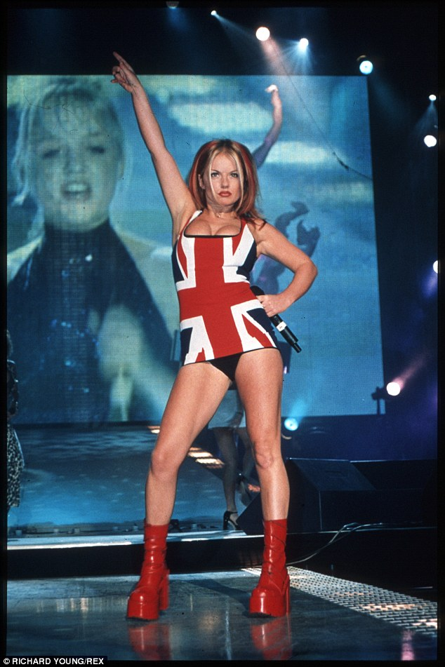 Mama Spice: Geri (here in 1997) is to become a mother for the second time