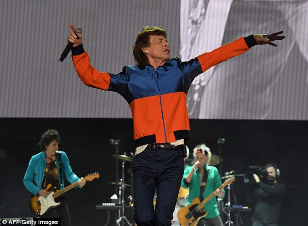 Still got it: Jagger may be 73-years-old but he displayed the energy of a man nearly half his age