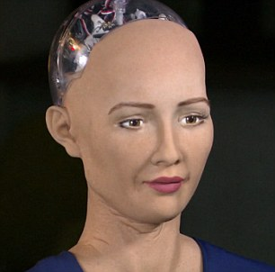 Sophia is equipped with an artificial skin