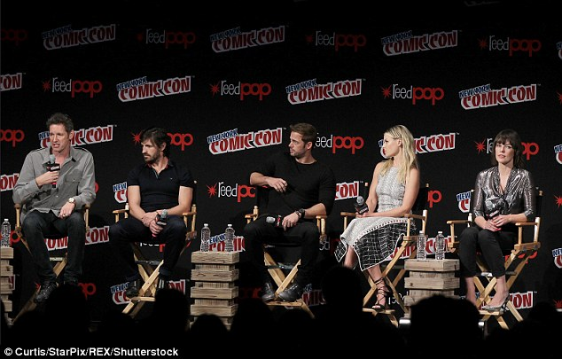 The crew's all here:The two actresses along with director Paul W.S. Anderson and co-stars Eoin Macken and William Levy hosted a panel to discuss the latest sci-fi installment