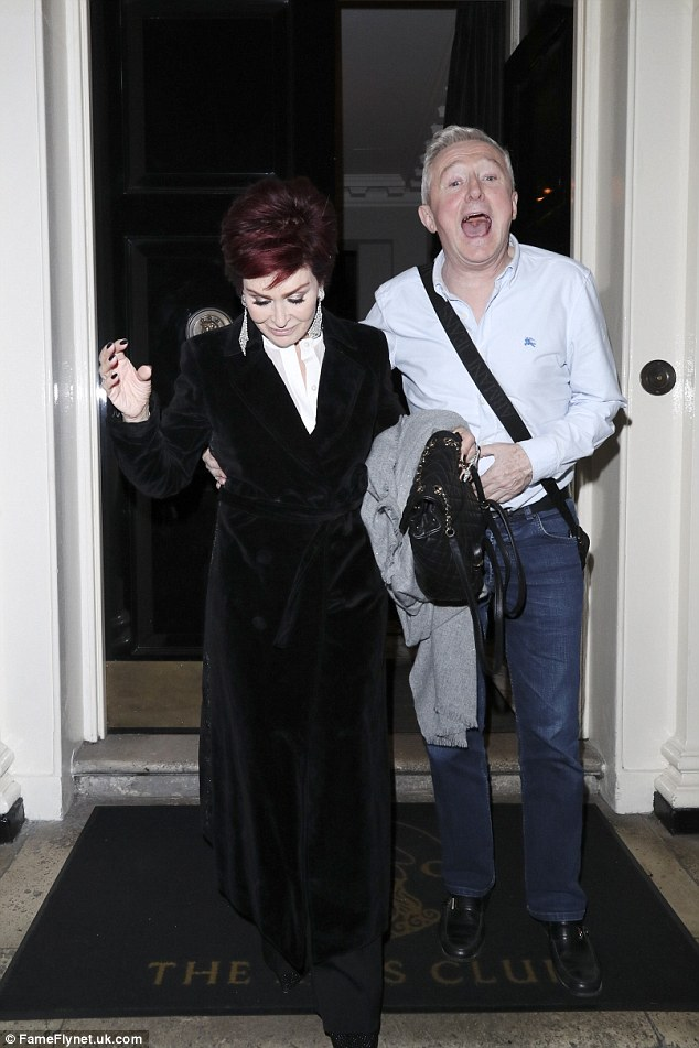 Birthday girl: The music managers looked in high spirits as they giggled and smiled leaving the salubrious venue