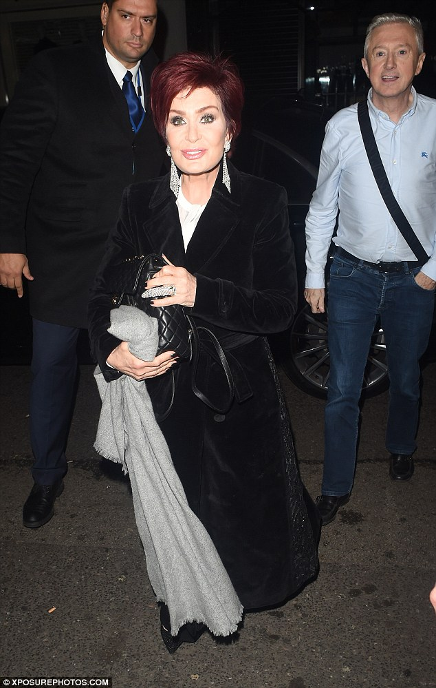 Birthday girl: Sharon was ready to celebrate her 64th birthday after her X Factor duties were done