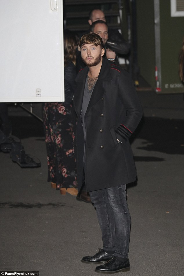 Star performer: James Arthur had earlier performed his new single on the show that launched him