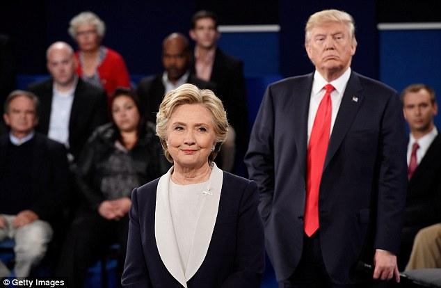 Donald Trump and Hillary Clinton engaged in a series of nasty exchanges during the second presidential debate