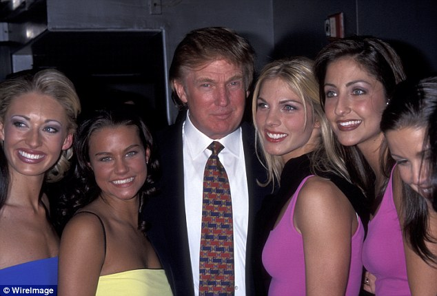 'I'll tell you the funniest is that I'll go backstage before a show and everyone's getting dressed,' Trump (pictured at the 1999 Miss USA pageant) said about the pageant during an interview in 2005