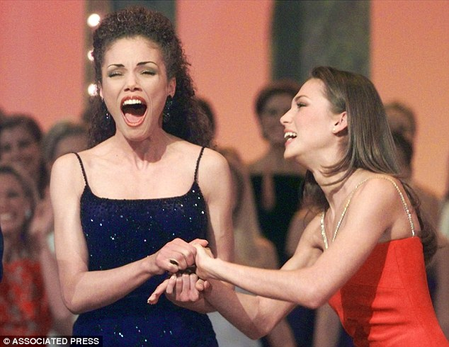 Bridget Sullivan (right), a contestant in the 2000 Miss USA pageant, accused Trump of walking through the dressing rooms while women were naked