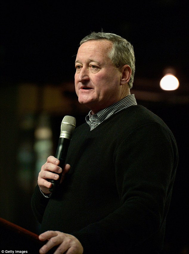 Kenney tweeted: 'Eyetalian hoagies are best for Iggle's game!' referring to the city's NFL team
