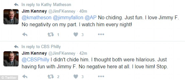 Kenney later said that he was just jesting and is actually a huge fan of Fallon