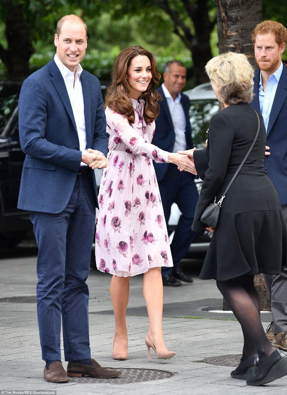 Outside the Eye the royals were greeted by Rosi Prescott, Deputy Lord Lieutenant for Lambeth