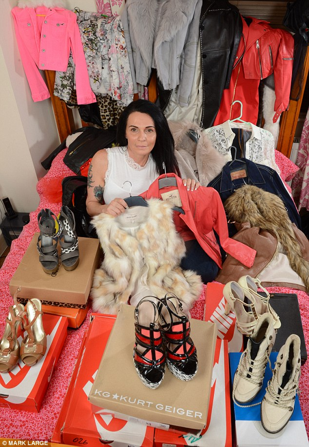 Plastic surgery, exotic holidays and designer shoes - all perks of a life lived with ill-gotten gains, which Farry says she's tempted to go back to. Farry, pictured above, with some of her haul