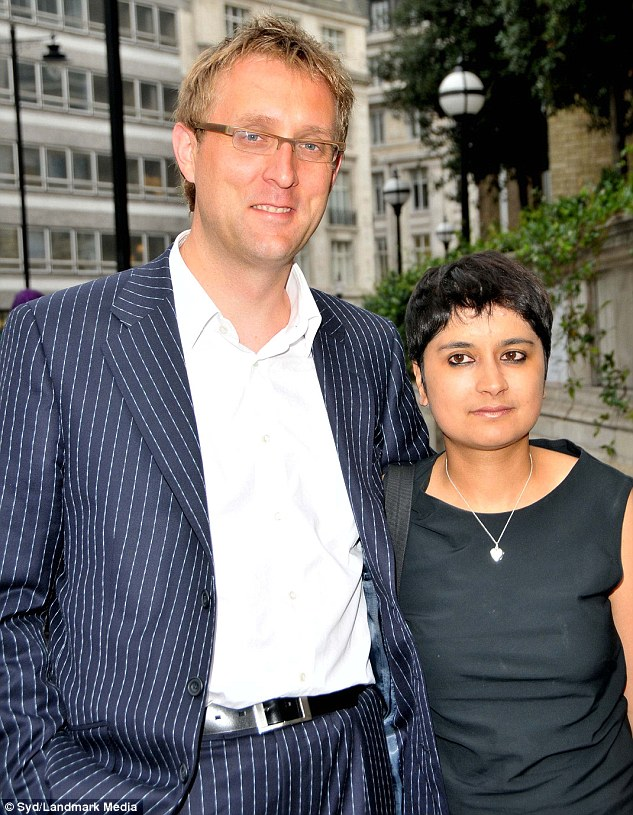 Baroness Shami Chakrabarti and her ex-husband, Oxford-educated lawyer Martyn Hopper