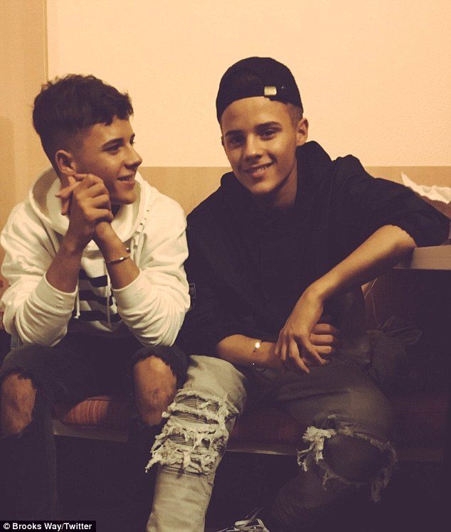 Denied: Josh and Kyle Brooks took to Twitter on Sunday night to slam a 'false allegation', as it was reported that they were axed from The X Factor after Josh beat up his ex-girlfriend