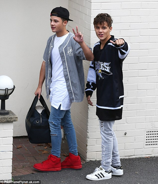 Pictured left: Josh and his twin brother Kyle were put through to the live rounds of the show after Louis Walsh backed them- but new reports now claim Josh has 'disturbing anger issues'