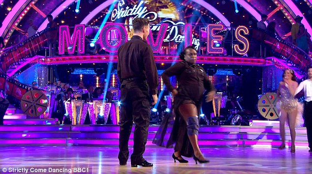 Injured: EastEnders star Tameka Empson was the second celeb to be voted off Strictly Come Dancing 2016 on Sunday night, performing the dance off with an injury