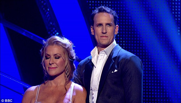 Safe: Anastacia gave an emotional thank you to viewers after being saved from another dance off by public vote on Sunday