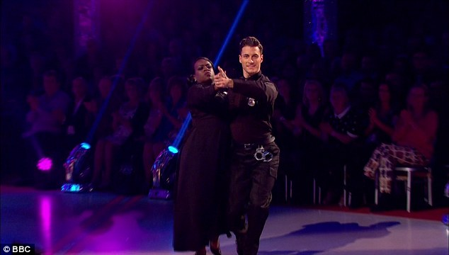 Last tango: Tameka's second performance of her Tango to The Heat Is On from the movie Beverley Hills Cop failed to win over the judges