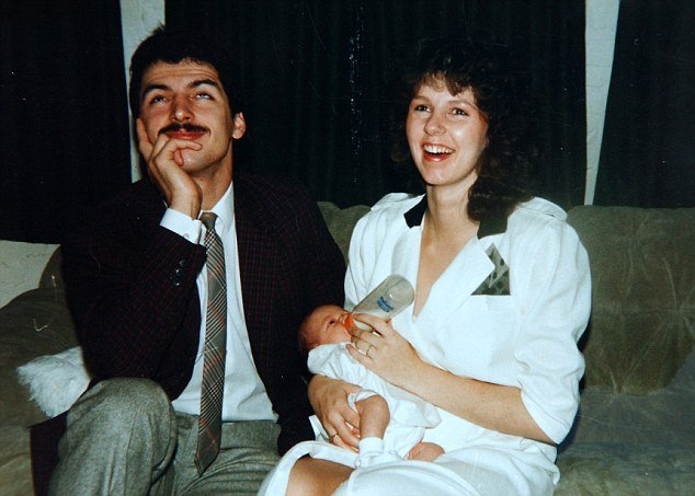 Past love: Jean-Christopher with his first wife Tina and their daughter Christina, who is now 30