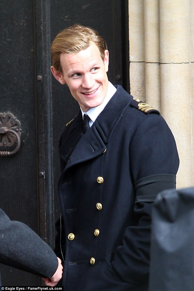 Royal: He's about to star as a young Prince Philip in Netflix series The Crown about the reign of Queen Elizabeth II. He is pictured on set