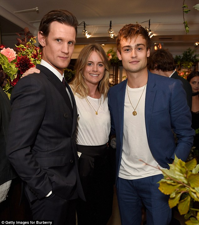 Mingling: Matt was seen chatting to Cressida Bonas - Prince Harry's ex - and actor Douglas Booth