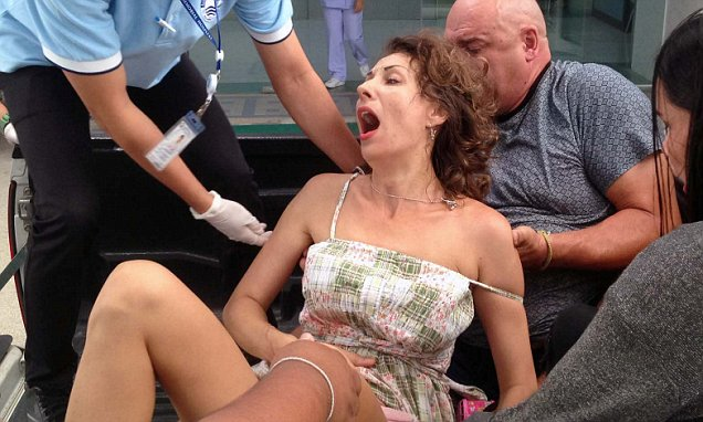 Russian woman is rushed to hospital in Pattaya after being stabbed in the stomach by