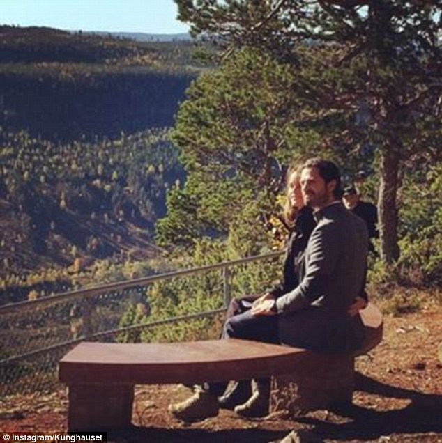 Prince Carl Philip and wife Princess Sofia recently visited the Hykjeberg Nature Reserve where they admired the view from a bench given to them as a wedding present