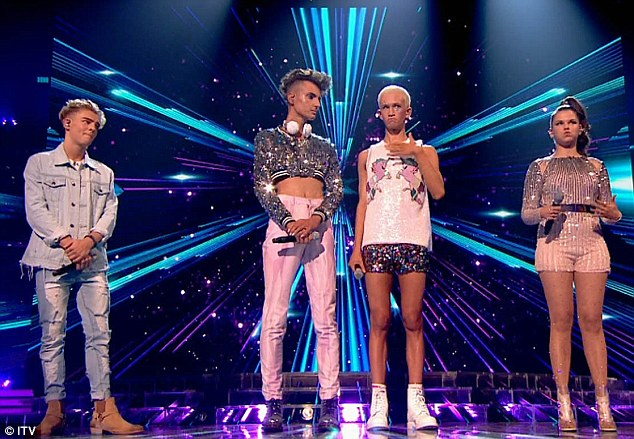 Lucky:Freddy Parker (left) was offered a lifeline by viewers who opted to save the aspiring singer from relegation