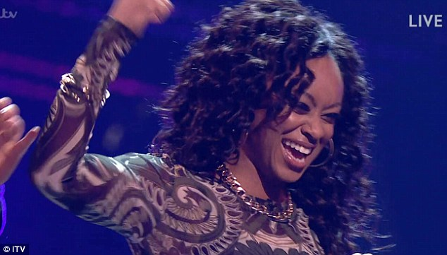 Success: Just moments earlier Relley C had become the first artist announced as returning to the show, next week