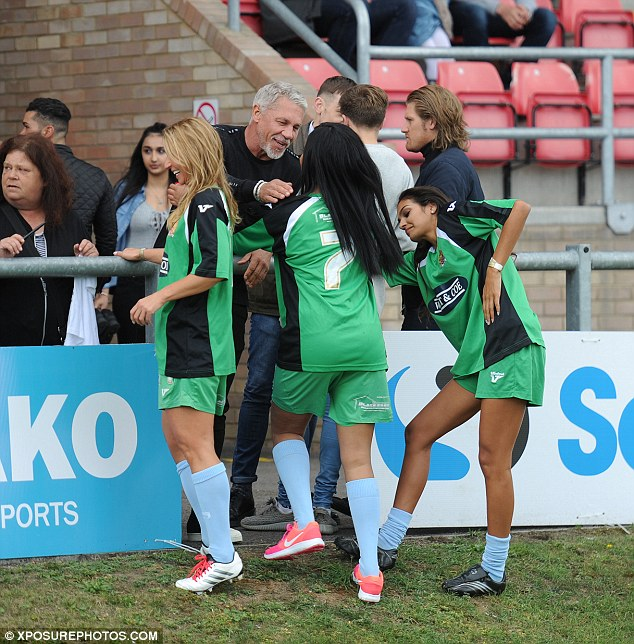 Greetings! The ladies excitedly greeted Wayne Lineker as he supported from the stand