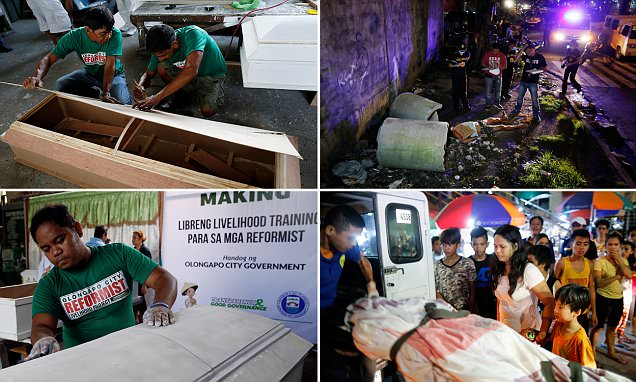 'If I don't change, I'll be in one of these caskets': Terrified Philippine drug dealers