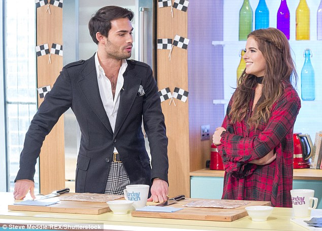 Team-effort: She was also joined by her fellow MIC co-star Mark-Francis Vandelli