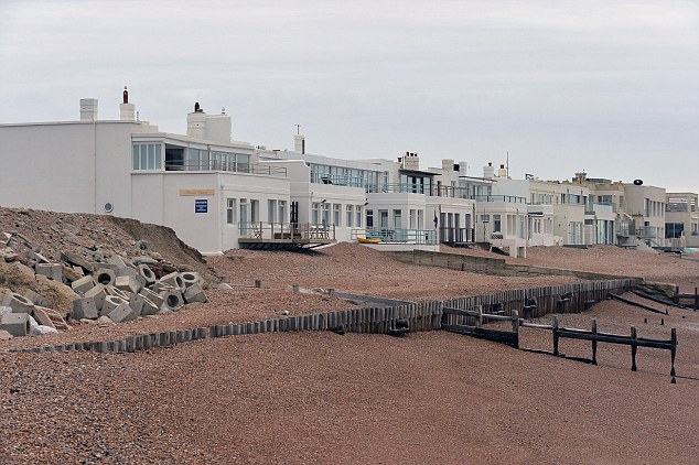 Millionaires Row, near the Hove Western Esplanade and near Brighton in East Sussex