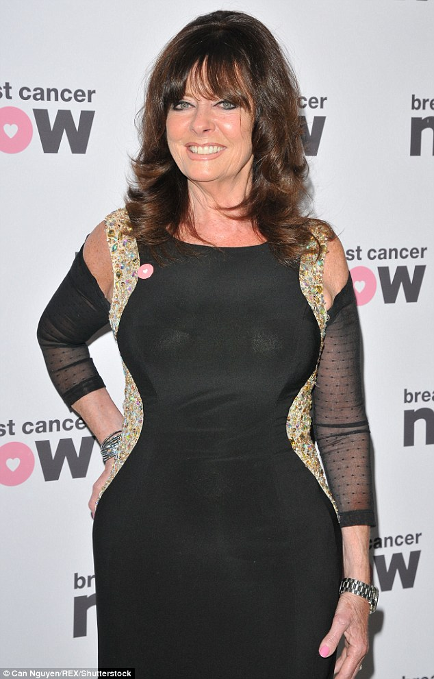 Hourglass: Vicki Michelle showed off her hourglass shape at the bash