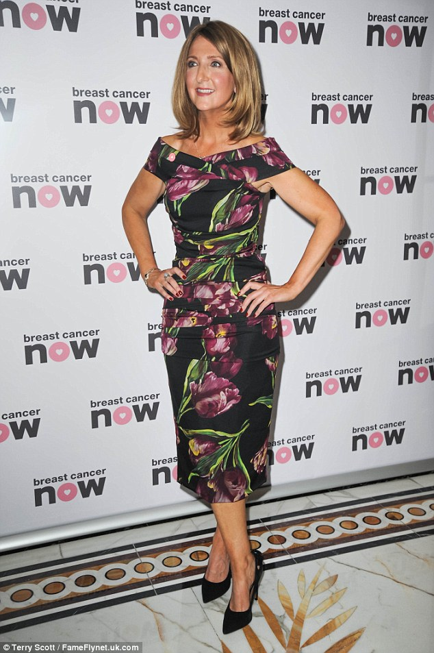 Ladylike: It was a demure floral dress for the breakfast news presenter
