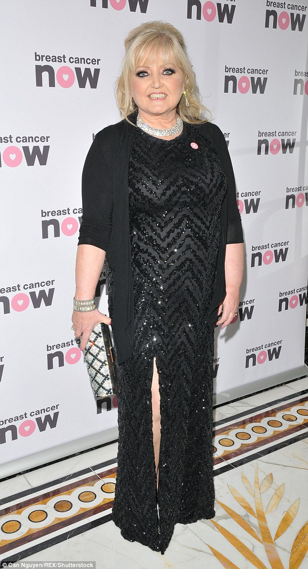 Glamazon: The Nolan sister wore black sparkles from top to toe