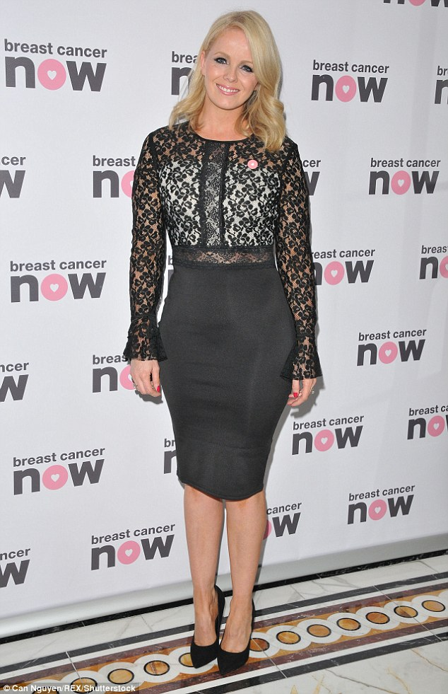Glamorous: Gillian looked sophisticated in a pencil skirt style dress