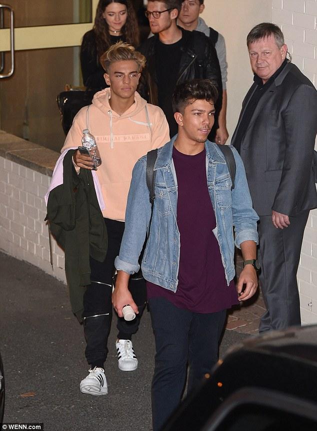 Feeling happy: Contestants Matt Terry and Freddy Parker looked exhausted